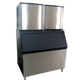 1 Ton / 24h Air Cooling Ice Cube Making Machine For Milk Tea Shop