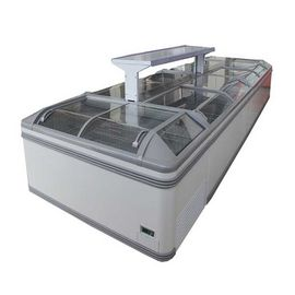 Glass Top Display Chest Deep Island Freezer With Combination Design