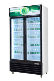 China Upright Glass Door Beverage Display Cooler With Wheel R134a Gas factory