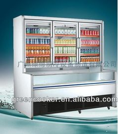 Static R134a Combination Freezer Side Joint Integrated For Shop / Market