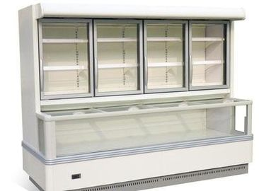 China Bitzer Compressor Combination Display Fridge Freezer With 3 / 4 Doors factory