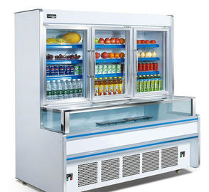 China Vertical 1.8m 2.5m Combination Freezer For Supermarket Easy Moving factory