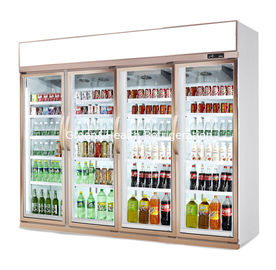 China Commercial 3 4 Doors Beverage Display Refrigerator With 680mm Depth factory