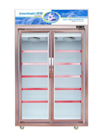 China 540W Commercial Beverage Cooler  /  Glass Door Refrigerated Display Cabinet For Supermarket factory
