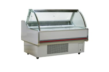 China Glass Display Refrigeration Sushi Deli Showcase Equipped With Adjustable Shelves factory
