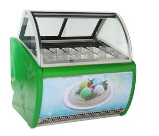 China Danfoss Compressor Ice Cream Display Freezer For Pastry Shop CE Certificate factory
