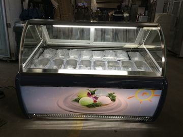 China 110V Commercial Glass Chest Showcase For Ice Cream With ETL R404a Refrigerant factory