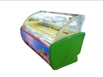 China Tabletop Glass Door Ice Cream Display Cooler Showcase 1730*1130*1250mm factory