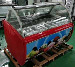 China Customized Stainless Steel Ice Cream Display Freezer Pan Size 325*176*100mm factory