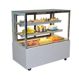 China Curved Glass Cake Display Freezer  / Bakery Refrigerator Showcase CE RoHS factory