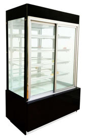 China Curved Glass Door With 3 Shelf Cake Display Showcase For  Snack In Bakery Shop factory
