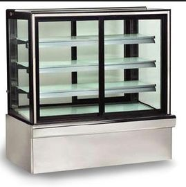 Curved Glass Door with 3 Shelf Cake Showcase for Cake and Snack in Bakery Shop