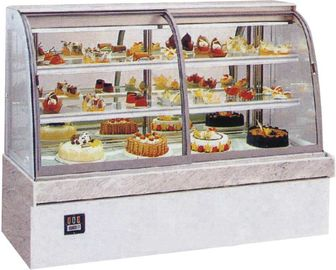 China Energy Saving Table Top Cake Showcase With Lcd Display Cabinet For Hotel factory