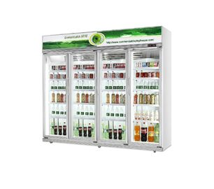 China Upright Beverage Display Showcase 5 Layers 2121L Capacity Temp 0~10℃ factory