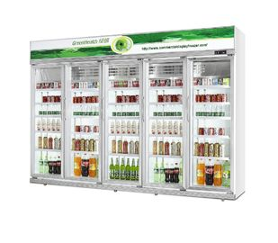 China 0~10℃ Temp Energy Drink Display Cooler 5 Layers R134a Refrigerant factory