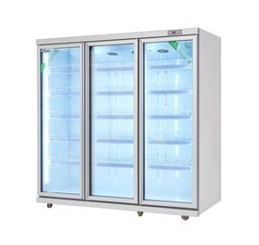 China Fan Cooling Commercial Beverage Refrigerator / Supermarket Refrigeration Equipment factory
