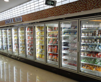 China Copeland Compressor Glass Door Upright Freezer  Single - Temperature Style factory