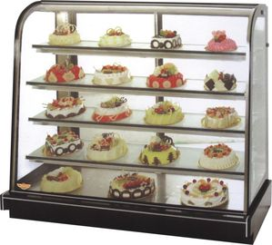 China 2~10℃ Temperature Cake Display Freezer For Supermarket And Breads Store factory