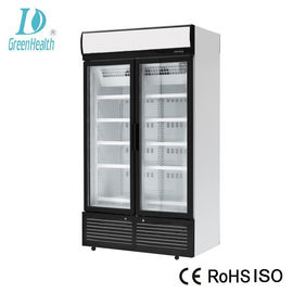 China Static Cooling Soft Drink Storage Commercial Upright Freezer With Panasonic Compressor factory