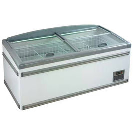 China Eco Friendly Sliding Door Display Island Freezer For Supermarket / Canteens factory