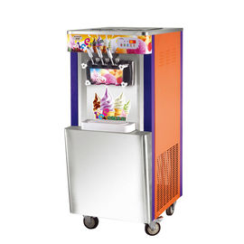 Italian Ice Cream Making Machine / Supermarket Glace Maker Customized Color