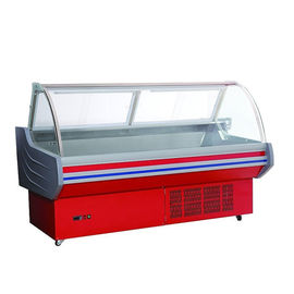 China Front Open Door Meat Display Cabinet Supermarket Deli Case Air Cooling factory