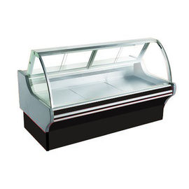 China Durable Curved Deli Display Cabinet / Air Cooling Butcher Display Freezer factory
