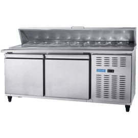 Pizza Refrigeration Workbench Under Counter Freezer Water Bar Milk Tea Shop Equipment Full Set Freezer