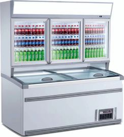 China Double - Temperature Supermarket Display Refrigerator Vertical Combined Freezer factory