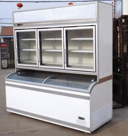 China Commercial Combined Cooler Freezer Restaurant Vegetable Display Chiller factory