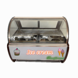 China 50Hz Shop Gelato Ice Cream Dipping Cabinet With Danfoss Compressor factory