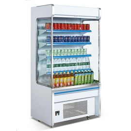 China Supermarket open showcase cooler commercial chiller multideck refrigerated display cabinets factory