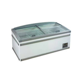 China Copper Pipe Supermarket Coffin Island Freezer Showcase -20 Degree 50Hz factory