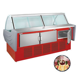 China Single - Temperature Deli Display Refrigerator ,  Supermarket Meat Dish Chiller factory
