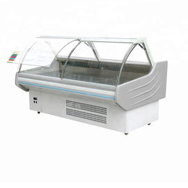 China Curved Glass Fresh Meat Deli Display Chiller Showcase With Aspera Compressor factory