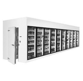 China Supermarket Walk In Storage Room Display Refrigerator With Shelf factory