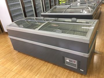 220 V 50hz Top Glass Sliding Door Deep Chest Freezer For Dairy Products