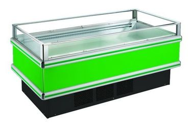 Clear Glasses Open Single Chest Deep Freezer For Frozen Seafood Fish