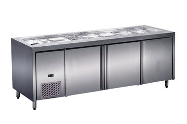 China 2 Doors Stainless Steel Under Counter Fridge For Kitchen Restaurant factory