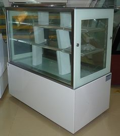 1.5 M White Commercial Cake Display Freezer With Marble Base / 3 Layers