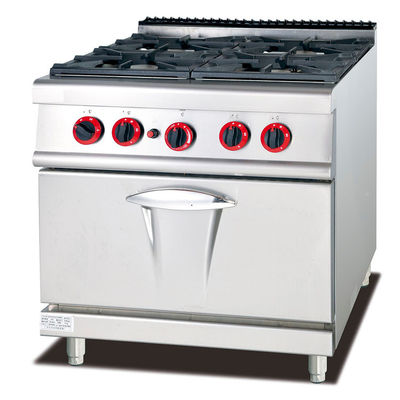 4 Four Gas Burner Restaurant Kitchen Equipment With Gas Oven