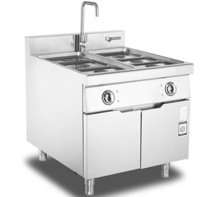 Stainless steel Buffet Counter food cooking stove electric Bain Marie food warmer With Cabinet