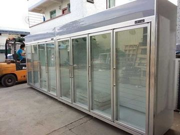 China Heater Glass Door Commercial Beverage Cooler For Supermarket / Store Two Layers factory