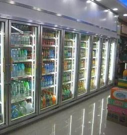 Convenience Store Glass Door Freezer For Fruit 2 - 8 Degree Danfoss Compressor