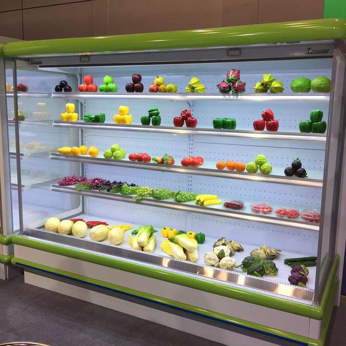 Supermarket Fridge Freezer Multideck Open Chiller / Food Display Cabinet