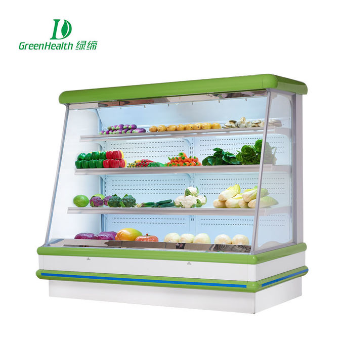 Commercial Supermarket Outdoor Multideck Open Chiller / Fruit And Veg Display Fridge