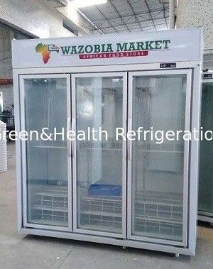 -18 ~ 22℃ Ice Cream Display Freezer With Glass Door For Supermarket