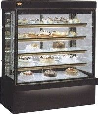 Pastry Dessert Cake Display Chiller With Back Sliding Door Air Cooling System