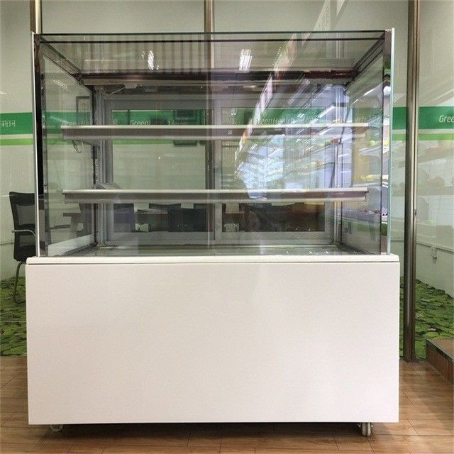 Customized Square Cake Display Freezer R134a / R404 Refrigerant 220V 50HZ