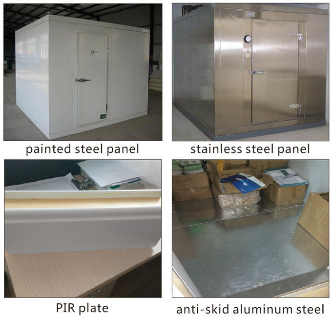 Modular Walk In Cold Room Panel PVC Painted Steel Stainless Steel White Light Polyurethane